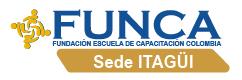 Fundación Escuela de Capacitación Colombia sede Itagüi Logo
